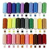 BUZIFU 30 Farben Nähgarn, Polyester Nähmaschinengarn, Sewing Thread, Nähgarn-Sortiment-Set, Nähset, 250 Yard