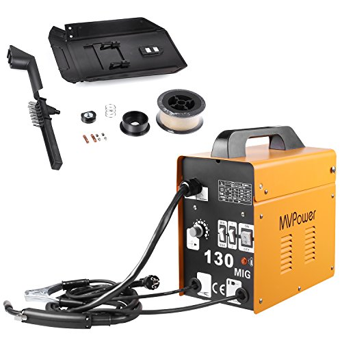 MVPOWER Inverter-Schweißgerät MIG130 Elektrodenschweißgerät Profi Elektroden Schweißmaschine 120A 230V Schweißinverter inkl. Draht