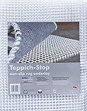 andiamo Teppich-Stop Antirutschmatte Teppichgleitschutz Teppichunterlage Haftgitter Rutschschutz, PVC beschichtetes Polyester, rutschhemmend zuschneidbar pflegeleicht strapazierfähig, weiß, 160 x 230 cm
