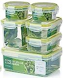 Zoe&Mii Premium 14 teilige Smart-Lock Deckel,Frischhaltedosen,Lock dosen,Gratis (E-Book) 21 Hähnchenrezepte,Pasta Vorratsdosen,Boxen,Der Dose