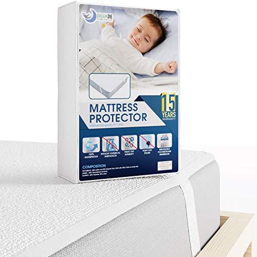 Dreamzie  Matratzenschoner Wasserdicht - Wasserundurchlässige Matratzenauflage - Atmungsaktive Baumwoll Matratzenauflage - Nässeschutz Bett Erwachsene Kinder