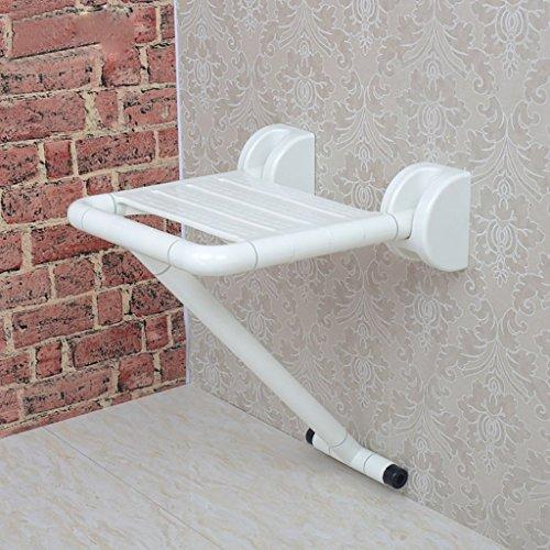 Duschklappsitz für Dusche, Bad oder Sauna - Duschsitz | Duschstuhl zur Wandmontage Für Fette Person/Ältere/Behinderte Menschen aus pflegeleichtem - Extrem Rutschfest und sicherer Halt