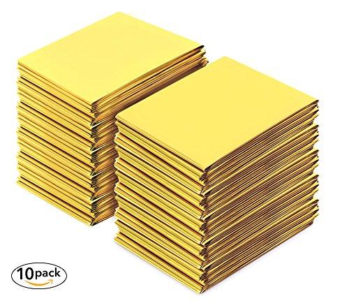 Premium Rettungsdecke von Urban Medical  | extra große Rettungsfolie für Erste Hilfe | 10 Stück | gold / silber | 210 x 160 cm |Wasserdichte Notfalldecke | Kälteschutz | Hitzeschutz | Autozubehör |