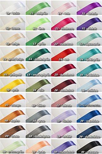Jajasio Satin Schrägband 19mm breit in 40 Farben, Satin Einfassband Nahtband / Farbe: 01 - weiss