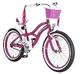 BIKESTAR Premium Sicherheits Kinderfahrrad 20 Zoll für Mädchen ab 6 - 7 Jahre  20er Kinderrad Cruiser  Fahrrad für Kinder Violet