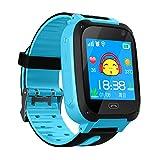 Kinder Smart Watch für 3-12 Jahre alte Jungen Mädchen mit SOS Kamera Touchscreen Spiel Smartwatch Birthday Gift (S4-Blue)