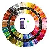 SOLEDI Stickgarn Embroidery Floss multifarben Weicher Baumwolle 8m (150 Farben)