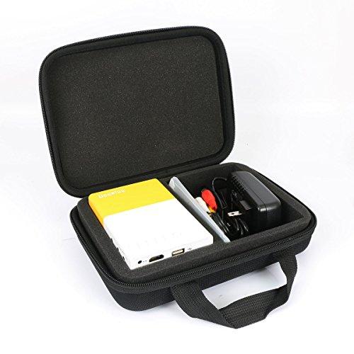 Hart Reise Schutz Hülle Etui Tasche für Deeplee Mini Beamer Portable LED LCD Projektor Heimkino Theater von co2CREA