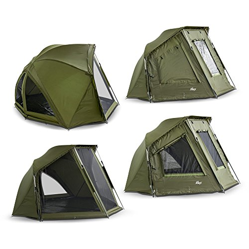 Lucx Brolly Wiesel/Angelzelt 1-2 Mann Schirmzelt/Shelter/Karpfenzelt/Schrim/Zelt, 240x275x150cm, 10.000mm Wassersäule/Bivvy/Campingzelt