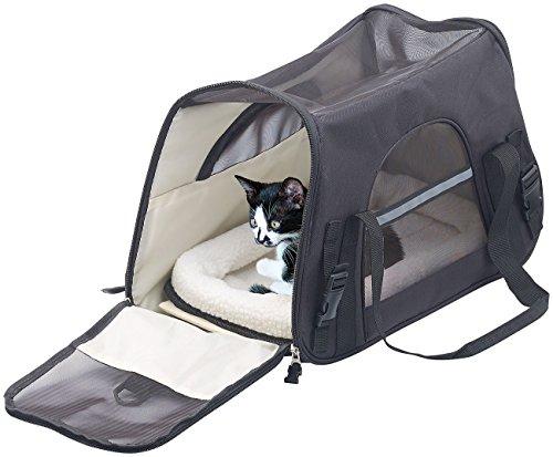 Sweetypet Hunde Transporttasche: Hand- & Auto-Transporttasche für Haustiere bis 8 kg, Größe L, Schwarz (Hundetasche)