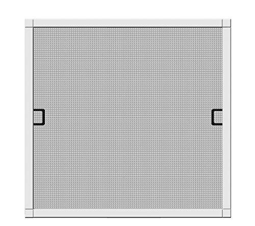 Schellenberg 70040 Insektenschutz-Fenster Premium, weiß / Fliegengitter mit Alu-Rahmen und Fiberglas-Gewebe, max. 100 x 120 cm - individuell kürzbar / Montage außen, ohne Bohren inkl. Befestigung