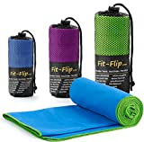 Fit-Flip Microfaser Handtuch - Premium Selektion -100x200-blue-green