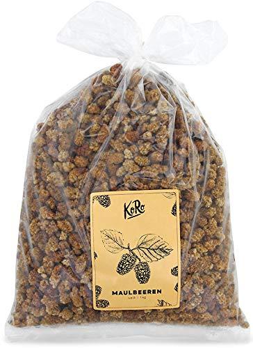 Bio Maulbeeren Getrocknet   Trockenfrüchte Zuckerfrei   Schwefelfrei   1 kg Vorteilspackung   KoRo   BIO   Maulbeeren