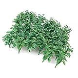 50 Stk. grüne Landschaftsmodell Bodendecker Gras mit zerkleinerte Blätter