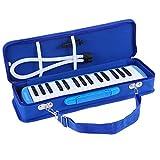 ammoon Melodica 32Tasten Melodica, Piano Style Tastatur Mundharmonika Mund Organ mit Mundstück Reinigungstuch Tragetasche für Anfänger Kinder Musik Geschenk