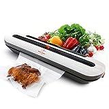 White Dolphin Vakuumierer - Vakuumiergert Automatische Lebensmittel Versiegelung Lebensmittel Bleiben Frisch mit 10 Extra Vakuum-Beutel für die Konservierung von Lebensmitteln