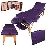 Massage Imperial - tragbare Profi-Massageliege Kensington - leicht 14 Kg - 3 Zonen - Violett