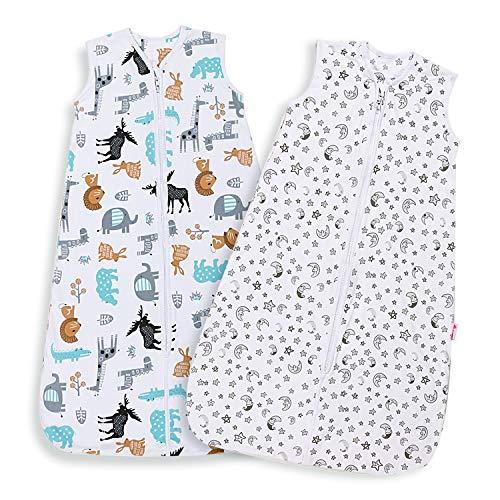 Lictin Schlafsack Baby Schlummersack Sommerschlafsack 0.5 Tog Babyschlafsack Einstellbar 70-90cm für Neugeborene 3-18 Monate