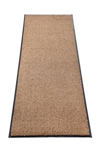 Premium Fußmatte Schmutzfangmatte SANSIBAR  Extrem strapazierfähig  Außen & Innen  Waschbar  PVC-frei – Sauberlaufmatte Haustür Schmutzmatte Türmatte Design Türvorleger – Eingangsmatte Schmutzfangteppich Schmutzfänger Außenbereich (Sansibar 60x120 cm, taupe)