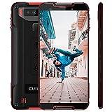 CUBOT Quest 5,5 Zoll 4G Sport Phablet Robustes Smartphone mit Octa Core CPU Gorilla Glas 5 4GB + 64GB Android 9,0 Fingerabdrucksensor Gesicht ID IP68 Wasserdicht (Schwarz+Red)