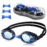 Bukm Schwimmbrillen, Vegena Erwachsene-Schwimmbrille Objektiv UV-Schutz wasserdichter Antibeschlag Training Taucherbrille für Unisex Erwachsene Herren Damen Jugendliche