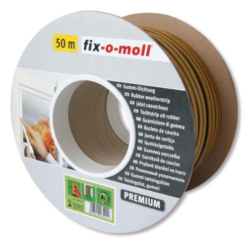 fix-o-moll E-Profildichtung Bobin 50 m  selbstklebend braun, 3585241