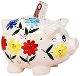 Sunny Toys 11952 Porzellan Sparschwein circa 23 cm mit Schloß