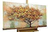 KunstLoft Acryl Gemälde 'No Man's Land' 120x60cm   original handgemalte Leinwand Bilder XXL   Herbstbaum Baum Herbst Braun   Wandbild Acrylbild Moderne Kunst einteilig mit Rahmen
