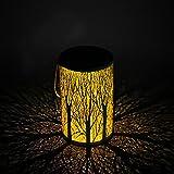 Solarlaterne für außen, Yokunat Solar Garten Lampe Licht Laterne im Freien für Rasen/Hof / Gehweg/Auffahrt Baum Form Laterne