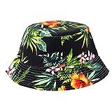 Banbian Viele Muster-Justierbare Kappen-Blumendruck-Boonie-Hüte nepalesische Kappe Armee-Mann-Fischer Hat Frauen Bucket Sun Hat (D)