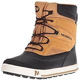 Merrell Jungen ml-b Snow Bank 2.0 Waterpoof Trekking-& Wanderstiefel, Braun (Wheat/Black), 36 EU