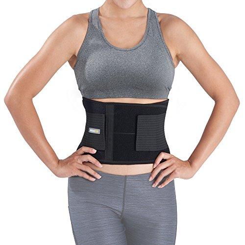 BRACOO Rückenbandage – Rückengurt – Rückenstützgürtel mit Stabilisierungsstäben   Ultra-leichtes Design   Rückengürtel für Damen und Herren   Fulcrum Serie   S/M