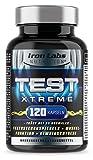 TEST XTREME - Hardcore Booster mit Aminosäuren, Zink & Vitamin D Trägt zur normalen Testosteron (Testosteronspiegels) und Muskelfunktion   120 Kapseln