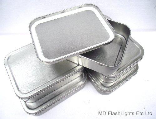 Stylische Tabakdose mit Gummidichtung, 57 g, Silberfarben, 5 Stück
