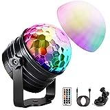 LED Discokugel (Upgrade) OMERIL Discolicht Musikgesteuert Disco Lichteffekte RGB Partylicht, Zeitgesteuertes USB Stimmungslicht mit 7 Farben, 4 Helligkeiten und Fernbedienung für Kinder, Partei, Feier