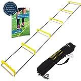gipfelsport Koordinationsleiter mit Hürden Trainingsleiter Set, 3m mit Tasche   Geschwindigkeitsleiter   Agility Speed Ladder für Fussball, Fitness, Sport, Football, Handball   + Gratis eBook