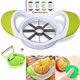 8-Klingen Apfel Slicer Corer - SUN RUN Ultra-Sharp Edelstahl Apfelklingen mit freiem Klappschäler, Küchen-Tool-Kit
