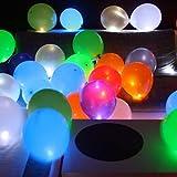 15 LED leuchtende Luftballons - Bunt - schöne Ballons mit Licht von Trendario für die Party, Geburtstag, Hochzeit, Festival