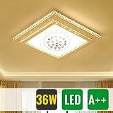 HG 36W LED kristall deckenleuchte Eckig Wandlampe Panel Kristall Quadrat Wohnraum Korridor