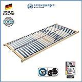 RAVENSBERGER VITA MED 5-Zonen-Schichtholz-Lattenrahmen mit 28 hochelastischen BIRKE-Federholzleisten | Starr | MADE IN GERMANY - 10 JAHRE GARANTIE | TÜV/GS-zertifiziert 90 x 200 cm