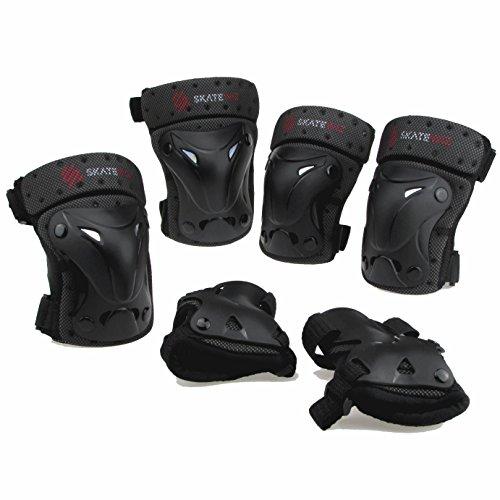 SKATEWIZ Protect-1 M Schutzausrüstung Inliner Unisex für Jugendliche und Erwachsene ab 13 Jahre (schwarz)