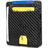 GenTo Magic Wallet Atlantic - TÜV geprüfter RFID, NFC Schutz - Dünne magische Geldbörse mit großem Münzfach - Geschenk für Damen und Herren - erhältlich in 4 Farben | Design Germany (Carbon)