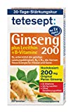 tetesept Ginseng 200 plus Lecithin + B-Vitamine – Präparat zur Unterstützung der Nerven und Vitalisierung des gesamten Organismus dank B-Vitamine – 5 x 30 Stück [Nahrungsergänzungsmittel]