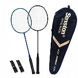 Senston S300 100% Graphit Badminton Set Carbon Badmintonschläger Graphit Badminton Schläger mit Schlägertasche