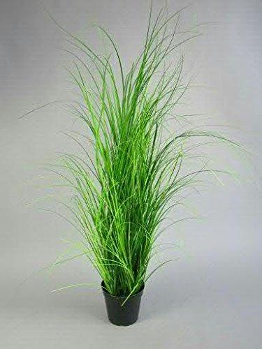 Dekogras im Topf - Künstlich & Naturgetreu - Medium: 95cm - Gras / Grasbüschel / Grasbusch / Grasbündel / Ziegras / Ufergras / Kunstgras getopft - Zeitlose Dekoration - Deko Bündel