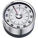 Westmark Analoger Küchentimer, Magnetisch, Rostfreier Edelstahl/Kunststoff, Futura, Weiß/Silber, 10902260