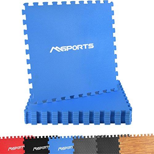Bodenschutzmatten Set Premium - 8 Schutzmatten in verschiedenen Farben 3,175m² | Bodenschutz 60x60 cm | Stärke: 1,0 cm | Puzzlematten Gymnastikmatte (Blau)
