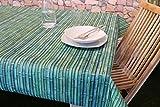 Wetterfeste BAMBUS - MOTIV - OUTDOOR – Tischdecke mit wunderschönem Motiv - verschiedene Größe und Motive stehen zur Auswahl - die perfekte Tischdecke für drinnen und draußen - geeignet für Haus, Terrasse, Balkon und Garten - ABWASCHBAR - WIND- und WETTERFEST - WITTERUNGSBESTÄNDIG und WASSER- und SCHMUTZABWEISEND – Neu aus dem KAMACA-SHOP ( 130 cm x 160 cm, Bambus )
