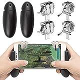 Mobile Game Controller, EAONE 2 Paar Zielauslöser Fire Buttons Sensitive Shoot Joysticks mit 1 Gampad für PUBG/Regeln des Survivals/Messer Out Game Pad passend für iOS und Android 11,5-16,5 Zoll