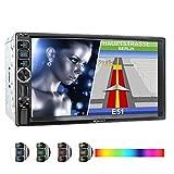 XOMAX XM-2VN716 Autoradio mit Mirrorlink, GPS Navigation, Navi Software, Bluetooth Freisprecheinrichtung, 7 Zoll / 18cm Touchscreen Bildschirm, SD, USB, AUX, 2 DIN